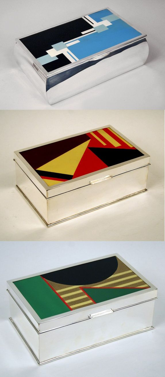 Art Deco Silver Boxes, France, 1930s (uploaded by Retroworx)