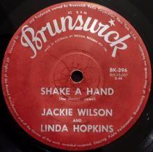 SHAKE A HAND / SAY I DO | JACKIE WILSON AND LINDA HOPKINS | 7 inch single | $60.00 AUD | music4collectors.com