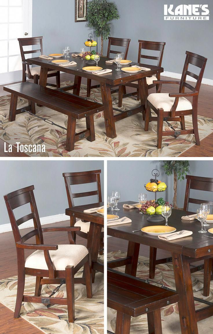 Fall In Love With This Solid Mahogany Dining Room From Kaneu0027s! The La  Toscana Dining Room Set Features A Distressed, Twelve Step Finu2026