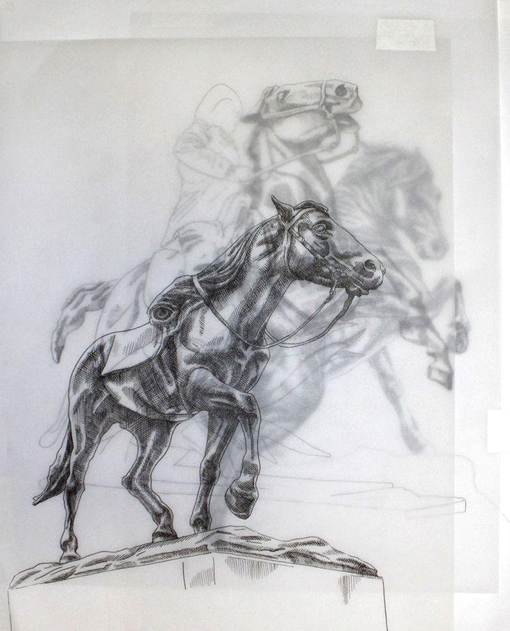 Adele van Heerden | Three Horses | Original Art For Sale | StateoftheART