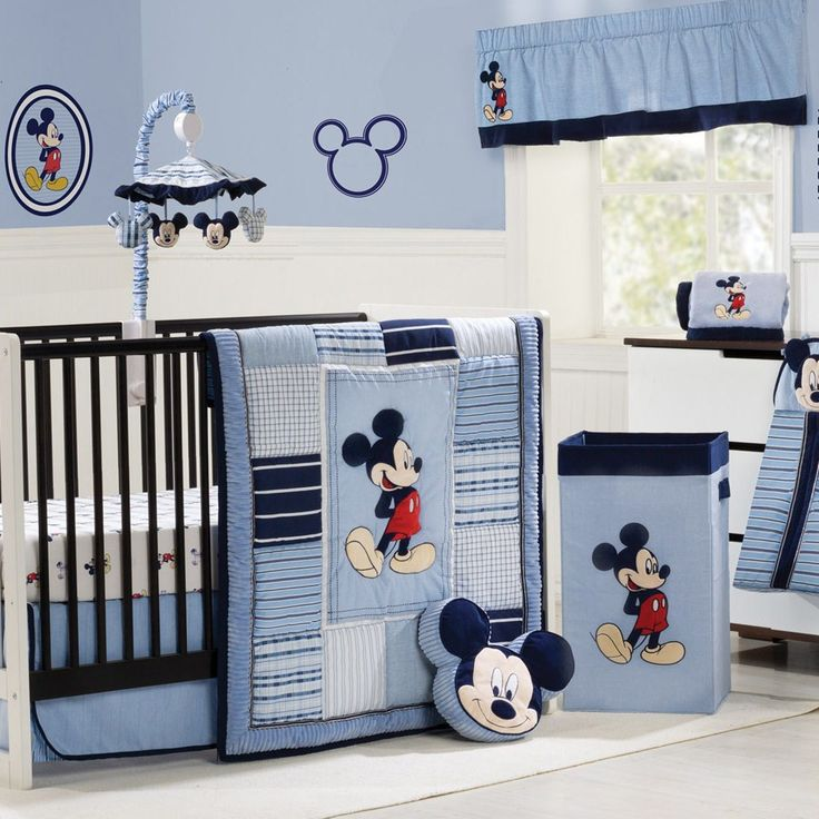 Add A Little Character To Your Nursery Disneybaby In The Pinterest Characterickey Mouse