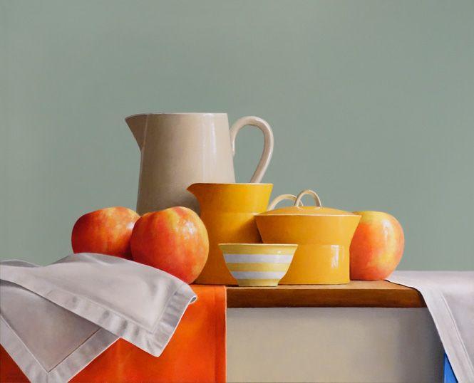 """Gallery Henoch - Janet Rickus, Peek-A-Blue, Oil on Canvas, 16"""" x 20"""""""