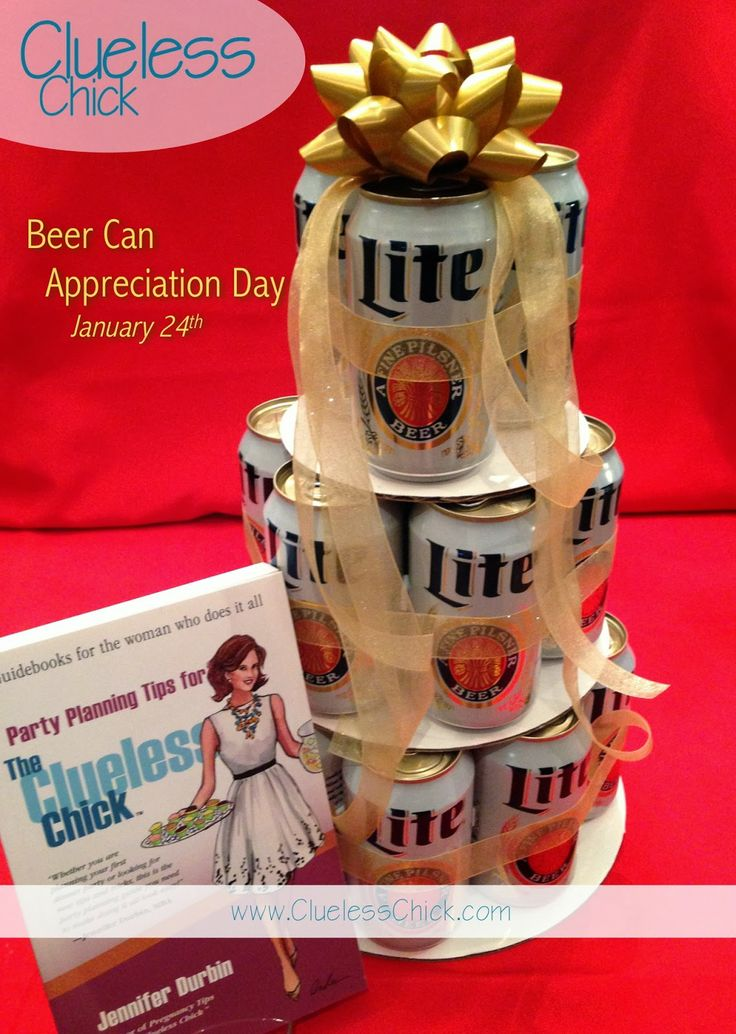 Miller Lite Beer Can Cake for Beer Can Appreciation Day January 24th!