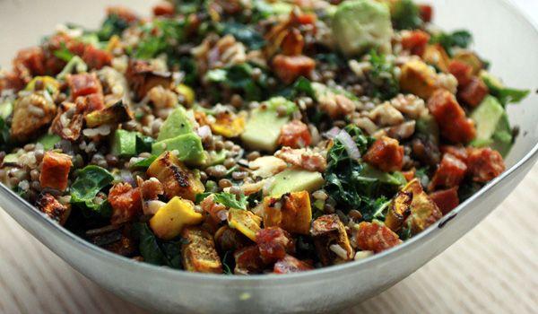 Wild Rice, Lentil & Eggplant Pilaf. A delicious healthy vegan meal!  #healthy #vegan #pilaf #nutreats