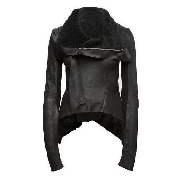 Кожанная куртка женская с мехом молодёжная