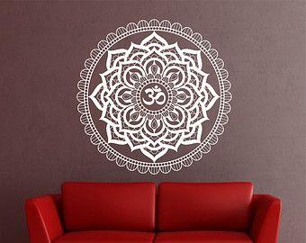 Mandala Wall Decal Aufkleber Yoga Om Namaste Yoga von VandyVinyl