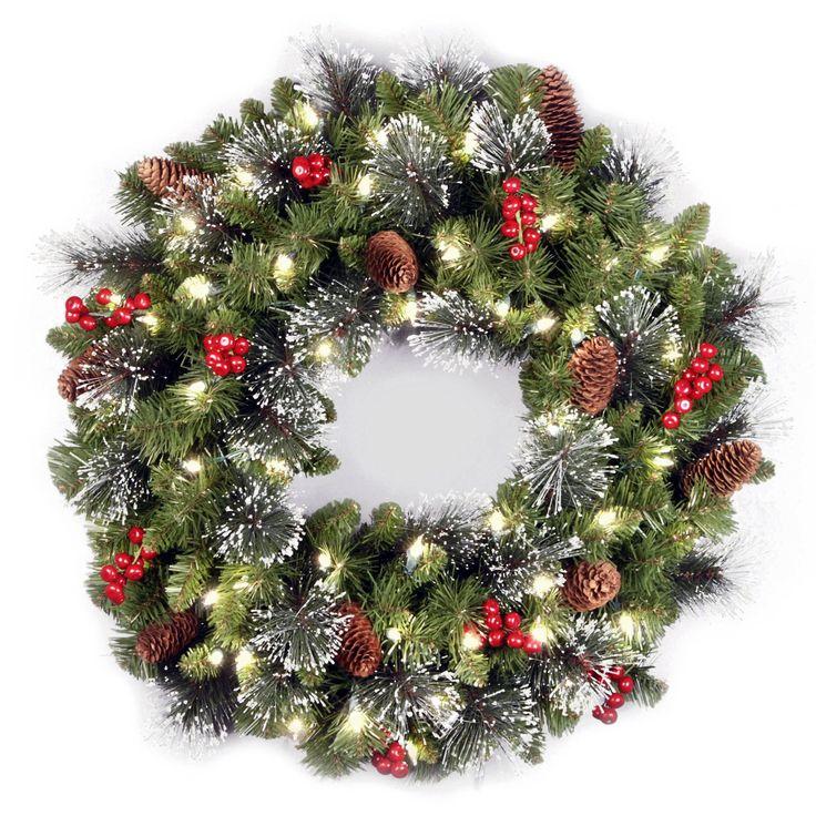 Best 25+ Pre lit wreath ideas on Pinterest | Christmas wreaths ...