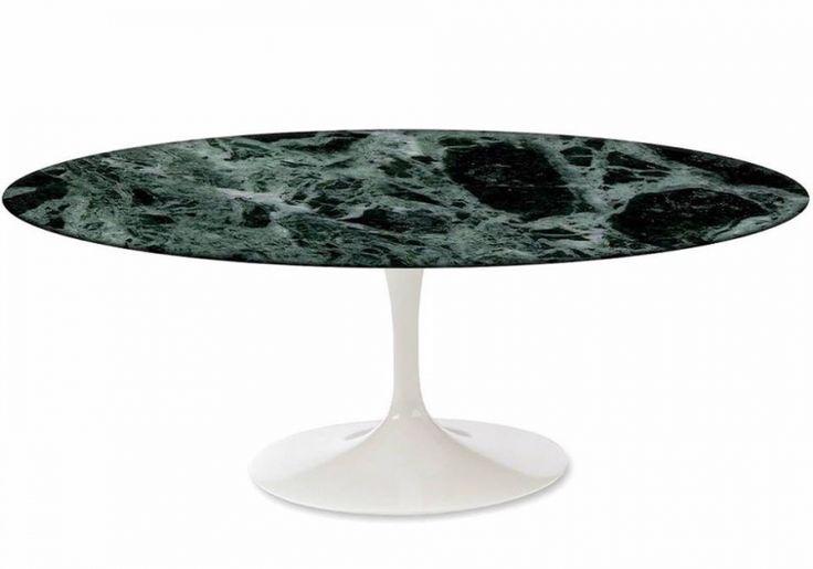 Ovale Saarinen Tulip tafel 199x120cm, stabiel en stevig -Verde Guatemala