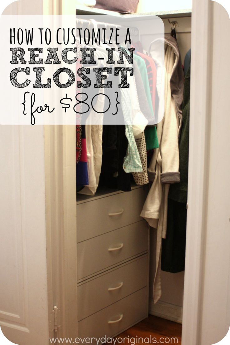25 best reach in closet ideas on pinterest master closet layout small closet design and for How to maximize storage space in a small bedroom