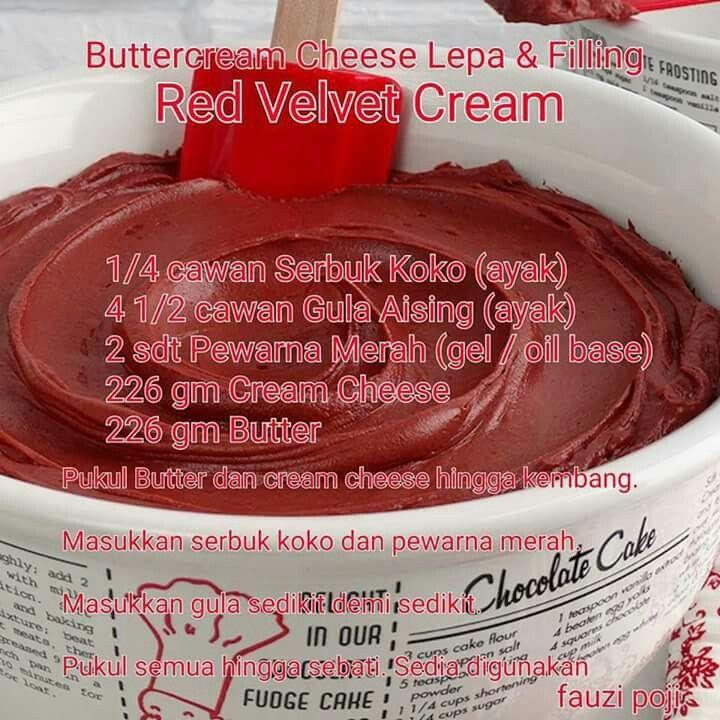 Buttercream cheese lepa & filling Red velvet cream