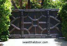 Wood Gates, Wood Gates with Wrought Iron, Driveway Gates Los Angeles, California