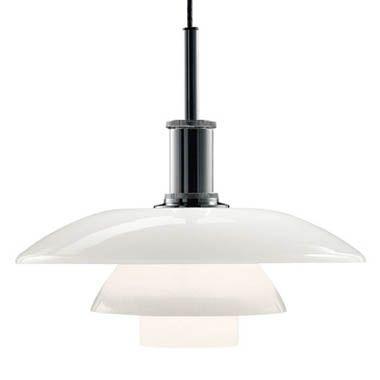 Louis Poulsen PH 4 1/2-4 Modern Glass Pendant Lamp by Poul Henningsen