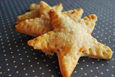Mini star pies filled with blueberries and cherries.