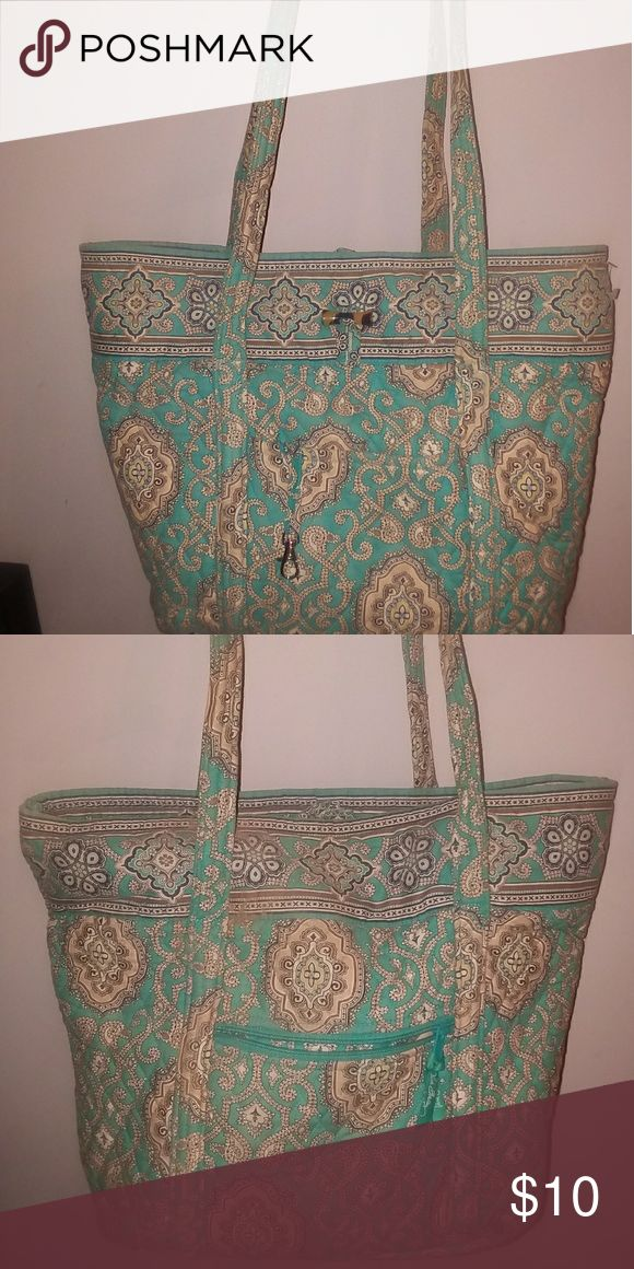 Large Vera Bradley tote bag In good shape, but has some wear in handles. From a smoke free home also. Vera Bradley Bags Totes