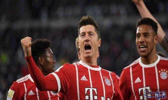 نادي بايرن ميونخ ينتزع انتصار ا مهم ا من فولفسبورغ في البوندسليغا انتزع بايرن ميونخ فوز ا صعب ا من مضيفه فولفسب Robert Lewandowski Bayern Munich Lewandowski