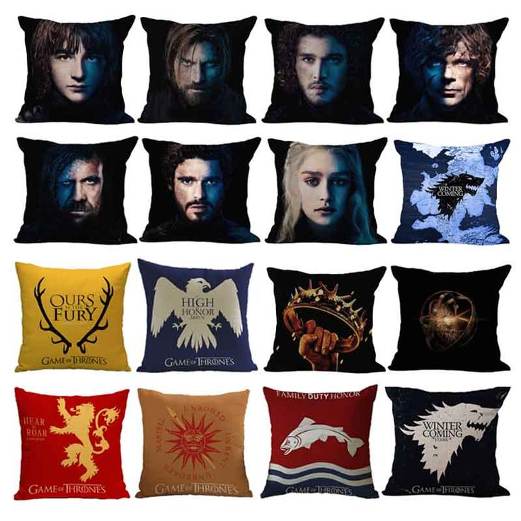 Game of Thrones Drama Character And House Crest Pillow Cushion Cover //Price: $15.00 & FREE Shipping //     #gots7