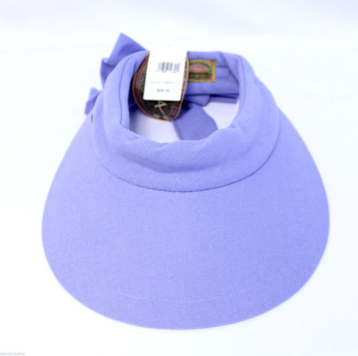 New With Flaws Scala Women's Visor Hat With Big Brim MSRP $28 N8003-A #Scala #VisorHat