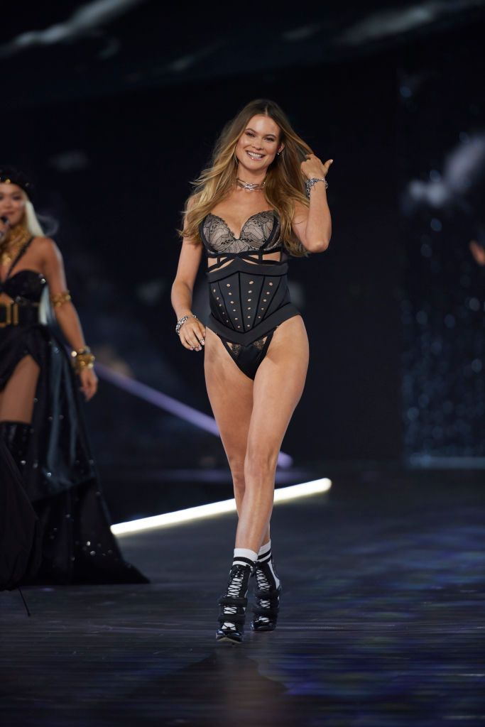 519a984203 Behati Prinsloo walks the runway during the 2018 Victoria s Secret ...