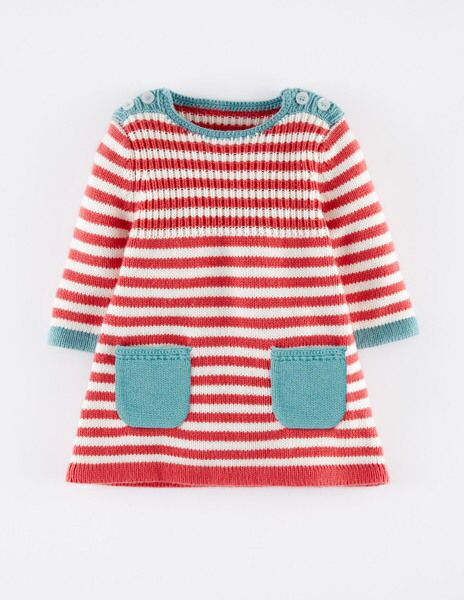 Mini Boden STRIPY KNITTED DRESS