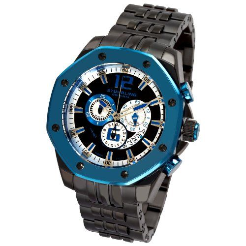 Stuhrling Gents Watch – Nautilus Black Dial/Blue Bezel (78181CR7.332L913) | Your #1 Source for Watches and Accessories