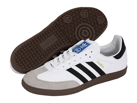 adidas Originals Samba® Leather Black/White - Zappos.com Free Shipping BOTH  Ways