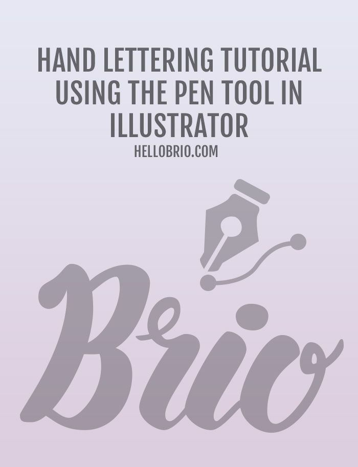 How to digitize hand lettering with the pen tool in