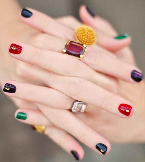 Jewel Tones | 20 DIY Nail Tutorials You Need To Try This Fall
