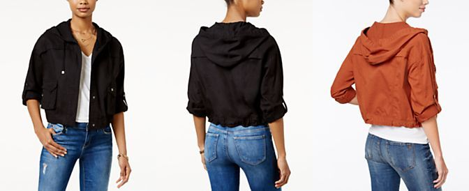 American Rag Cropped Cargo Jacket, Only at Macy's