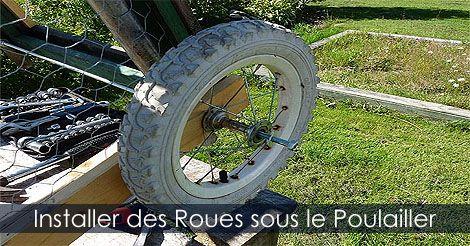 Poulailler - #diy - Construire un #Poulailler - Étapes Construire un poulailler sur roues ou tracteur à poules. Instructions: http://www.jardinage-quebec.com/guide/construire-un-poulailler-mobile/poulailler-sur-roues-6.html