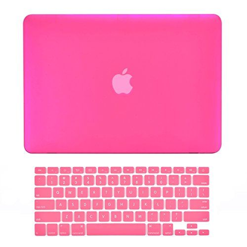 "TopCase 2 in 1 Rubberized Hard Case Cover and Keyboard Cover for Macbook Pro 15"" A1286 (Case NOT for Retina Display) with TopCase Mouse Pad (Macbook Pro 15"" A1286 Hot Pink)"