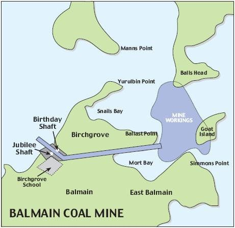 Balmain Coal Mine. The Birchgrove site was bought in 1895 for $15 000. Balmain Colliery produced coal from 1897 until 1931 and natural gas until 1945. It is the deepest coal mine ever to be sunk in Australia. It had poor working conditions and suffered several disastrous accidents. The property was sold in 1955 and the shafts filled in and sealed two years later.