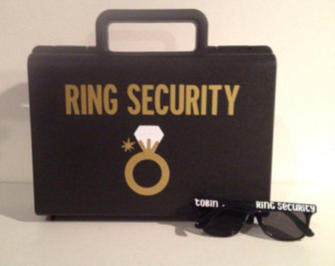 Veiligheid, Ringbearer geschenk, Agent van de Ring, Ring Ring drager, kluis Ring, Ring Beveiliging werkmap, Ring Security Case
