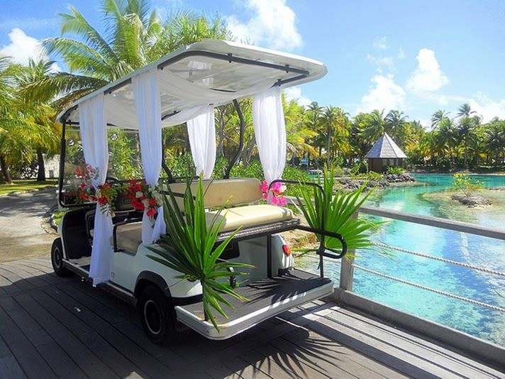 The St. Regis Bora Bora Resort  - Decorated Club Car for a Wedding ... By Super Starfish ... Thanks for a lovely perspective.