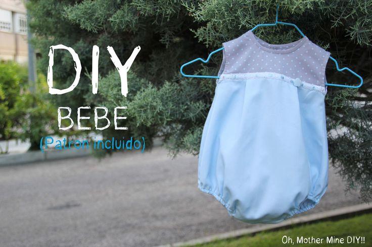 DIY Costura de Ropa Bebé: Como hacer ranita para niño (patrón incluido). Despliega la descripción para obtener toda la información!!! Post completo: http://w...