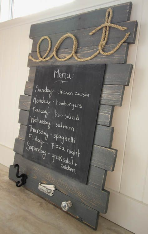 DIY Pallet Sign Menu Board #LoveYourWood -15 WOULD BE CUT AT OUR BAR WITH BAR DRINKS ON IT!