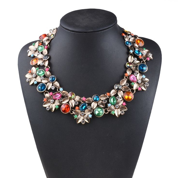 PPG&PGG New Arrival Fashion Statement Luxury Brand Gem Vintage Rhinestone Collar Choker Necklace Women Jewelry-in Choker Necklaces from Jewelry & Accessories on Aliexpress.com | Alibaba Group