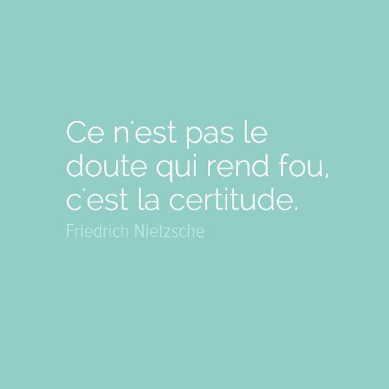 Ce n'est pas le doute qui rend fou, c'est la certitude - Friedrich Nietzsche LA RAISON ET LE REEL INTERPRETATION