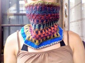 Handmade Crochet Cowlonline auction to help a friend!