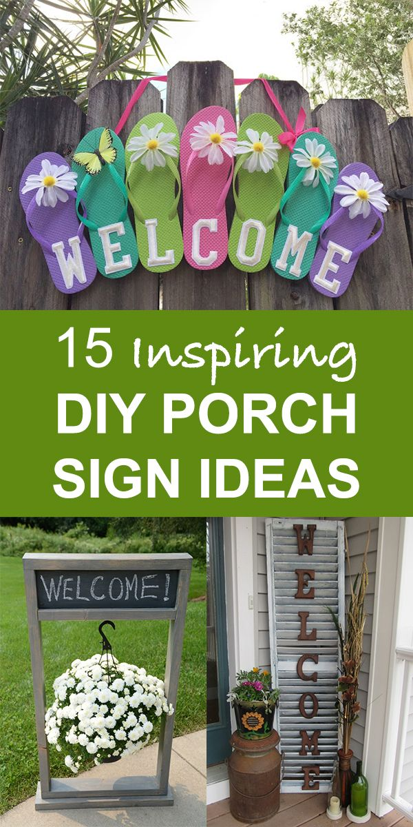 15 Inspiring Diy Front Porch Sign Ideas For Your Home In 2020