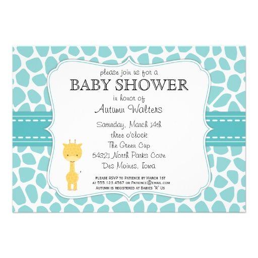 giraffe baby shower invitations giraffe theme baby shower supplies