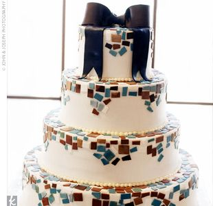 Mosaic #Wedding #Cake by Butterfly Cakes