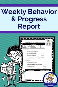 It's so important for students to reflect on their own behavior. I had students fill out this report each week rating their own behavior, added my own comments, and sent it home for parents to review and sign.   I tried to keep a copy of all reports, whic