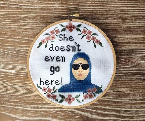Mean girls cross stitch