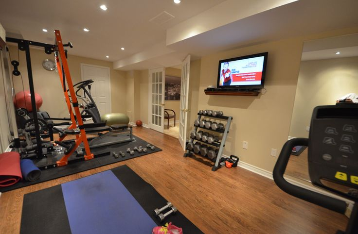 Finished basement steam room home gyms