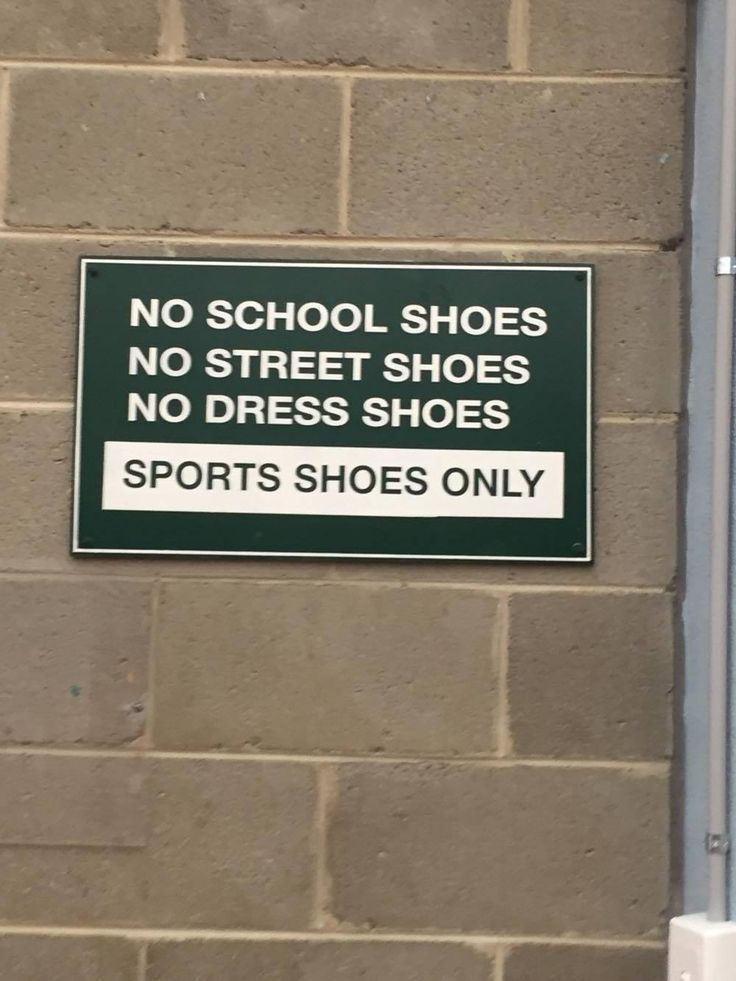 Policy - this is a school rule. if you have the wrong shoes, you can not participate in PA
