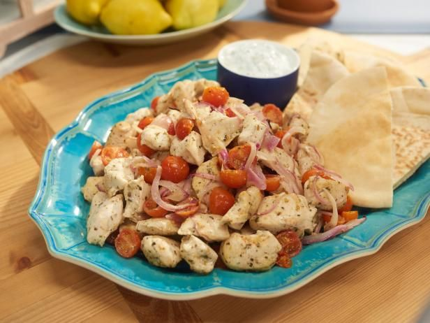 Get Greek Souvlaki Cheat Sheet Recipe from Food Network. Tzatziki need grated onion and more garlic.