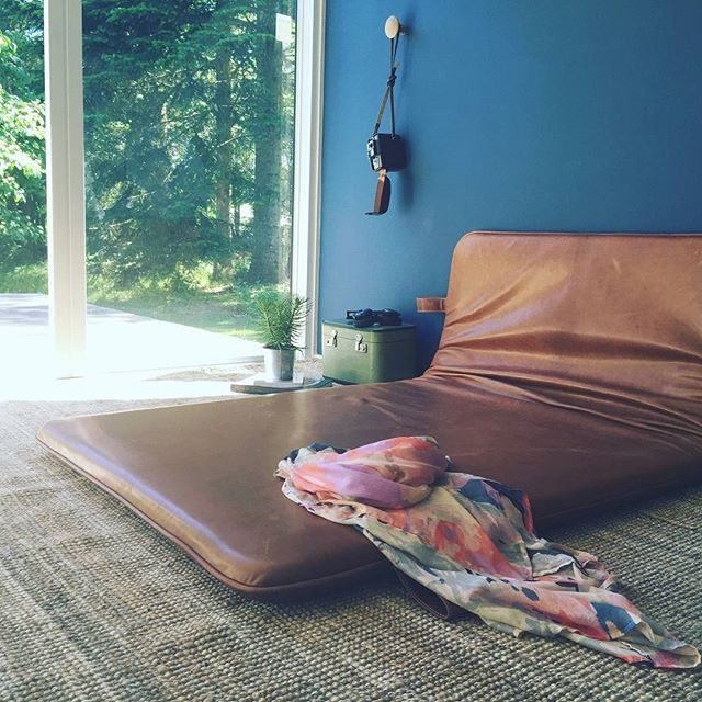 Morning silence #them #bythornam #daybed #lounge #leather #handmade #design #slowliving