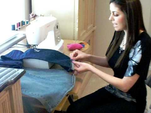 AMAZING QUICK & EASY way to HEM JEANS keeping the ORIGINAL HEM LINE - YouTube   Yes a noob like me needs this!