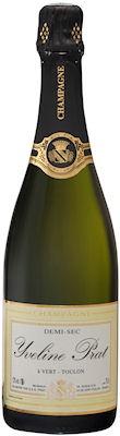 Bouteille de champagne demi-sec Yveline Prat