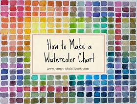 Jenny's Sketchbook: How to Make a Watercolor Chart